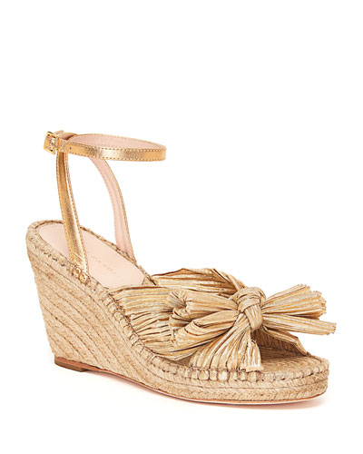 Charley Bow Wedge Sandals