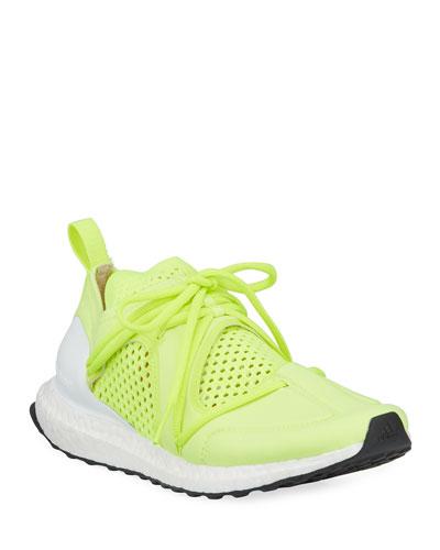 Ultraboost Lace-Up Neoprene Running Sneakers, Yellow