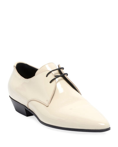 Jonas Patent Lace-Up Loafers