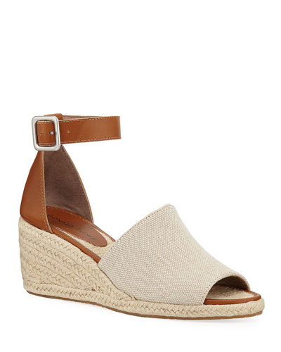 Cacie Ankle-Strap Wedge Espadrilles