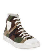 Saint Laurent Bedford Patch High-Top Sneakers