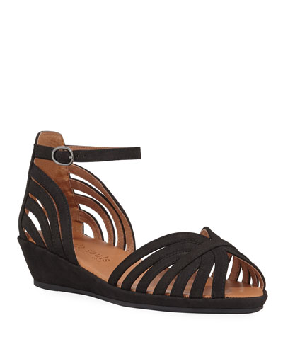 Leah Strappy Demi-Wedge Comfort Sandals