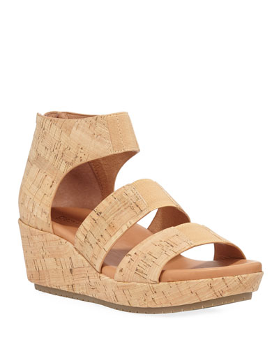 Milena Cork Demi-Wedge Sandals
