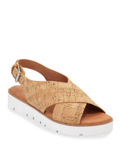 Prisca Cork Slingback Sandals