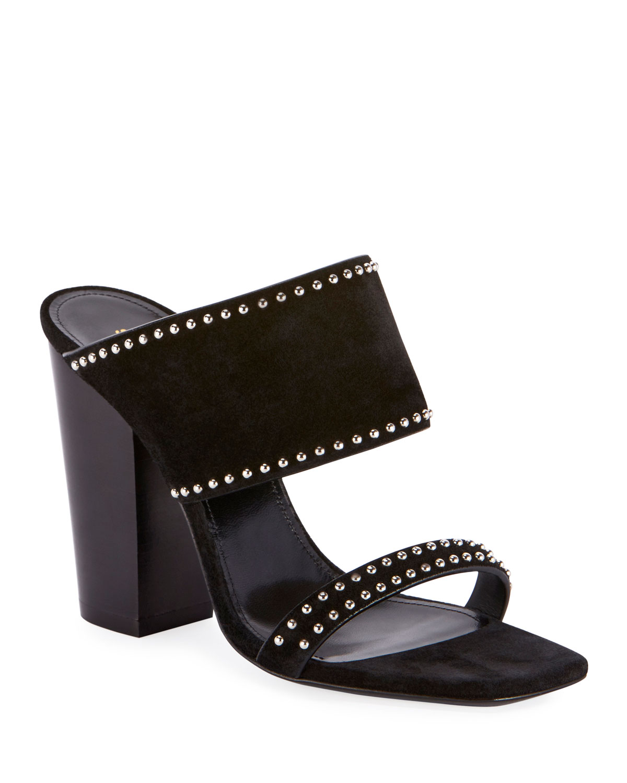 Oak Heeled Suede Sandals