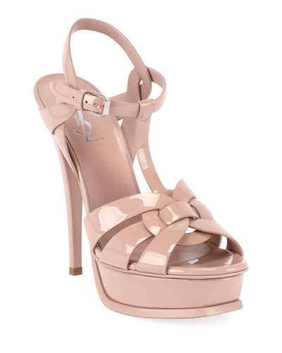 Tribute Patent Leather 105mm Sandals
