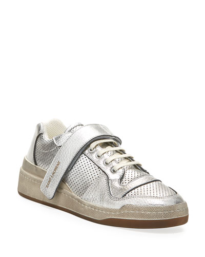 SL24 Metallic Perforated Grip Sneakers