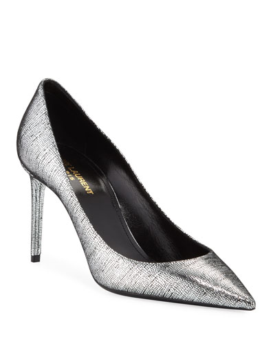 Zoe Metallic Leather Pumps