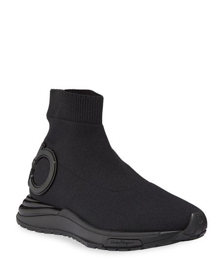 Salvatore Ferragamo Gardena Gancini Sock Sneakers