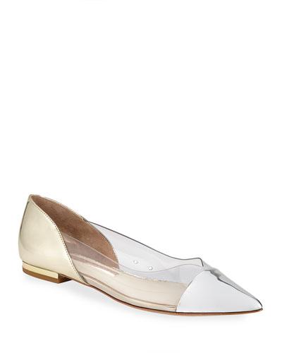 Daria Mixed PVC Ballet Flats