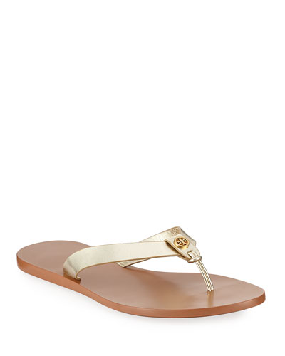 59d090a1873 Quick Look. Tory Burch · Manon Metallic Leather Thong Sandals