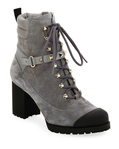 Rockstud Lace-Up Water-Resistant Hiking Boots