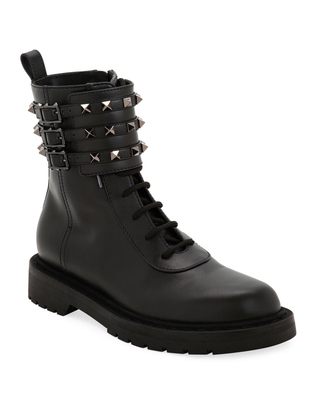Tri-Band Rockstud Combat Boots