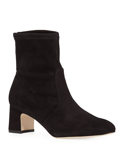 Niki Stretch-Suede Booties