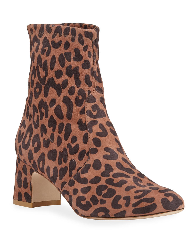 Niki Leopard Suede 60mm Boots