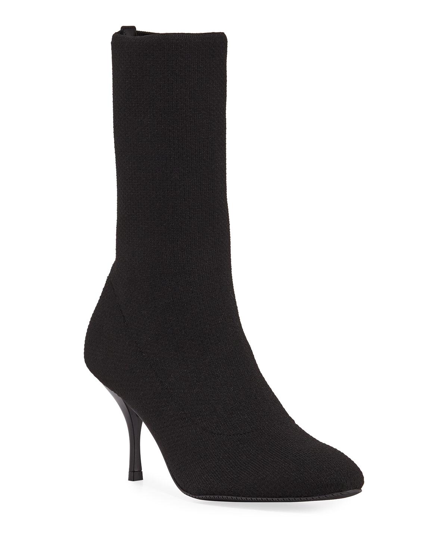 Violetta Stretch-Knit Sock Booties