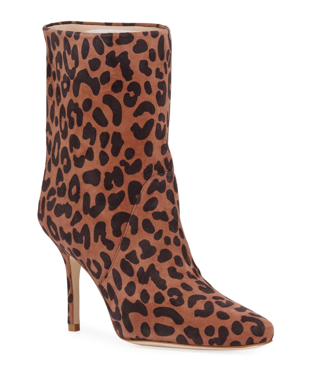 Ebb Leopard-Print Booties