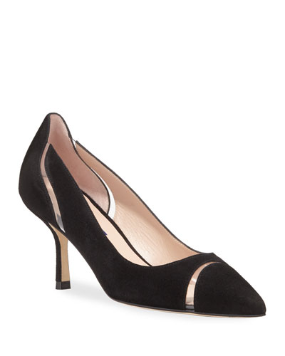 Davia Suede and PVC Pumps