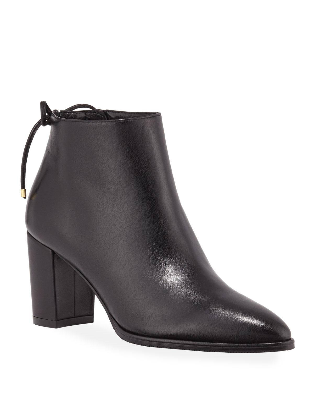 Gardiner Leather Block-Heel Ankle Booties