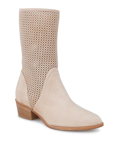 Ala Tall Perforated Booties