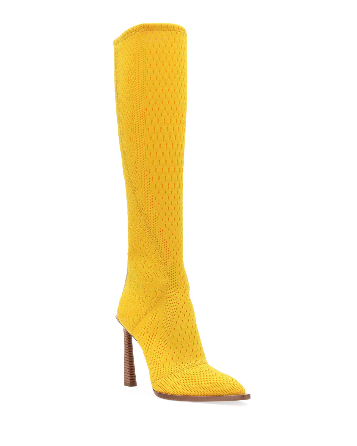 Knit To-The-Knee Boots