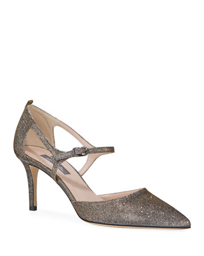 Phoebe Sparkle Low Pumps