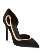 Balmain Miley Suede Asymmetric Pumps