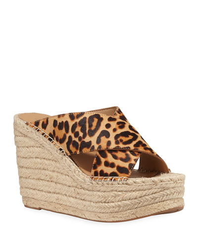 Adenly Leopard-Print Espadrille Sandals
