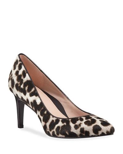 Gabriela Low-Heel Leopard Pumps