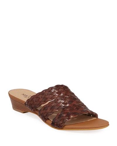 Gale Woven Demi-Wedge Slide Sandals
