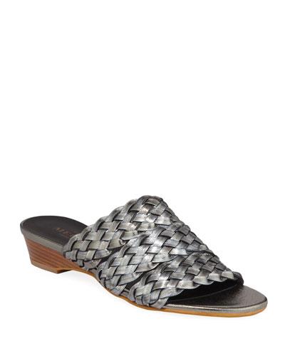 Gale Woven Metallic Demi-Wedge Sandals