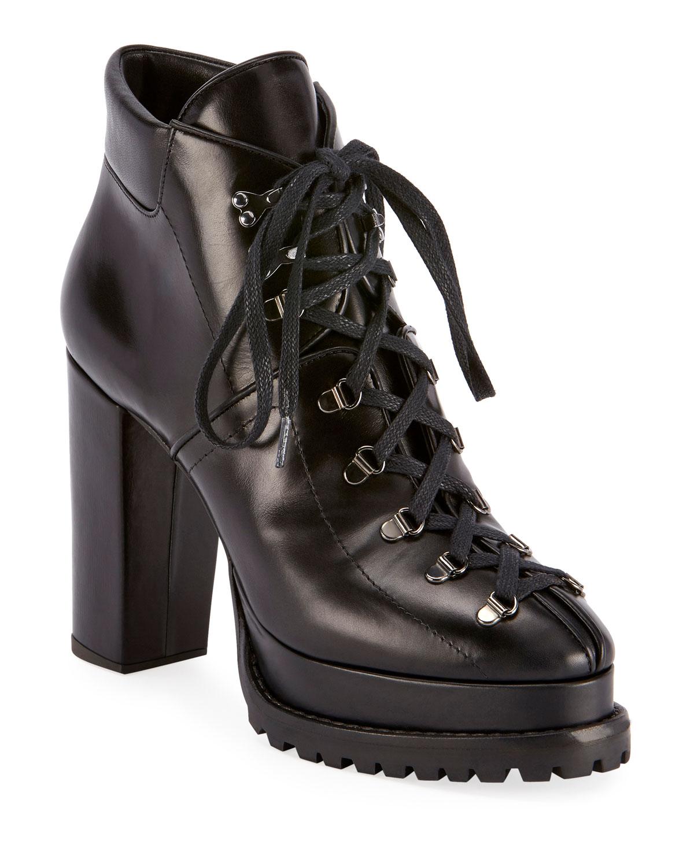 Alaïa Boots PLATFORM LUG-SOLE BOOTIES