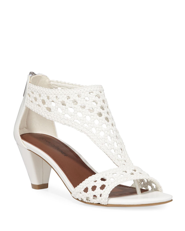 Verona Woven Mid-Heel Sandals