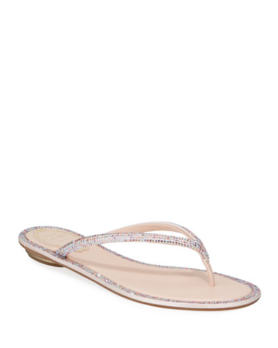Flat Romantic Mix Thong Sandals