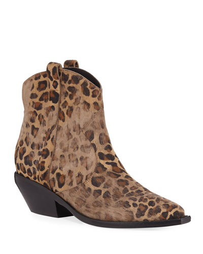 Tacyly Distressed Leopard Booties