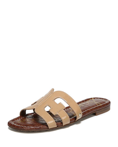 Bay Patent Cutout Slide Sandals
