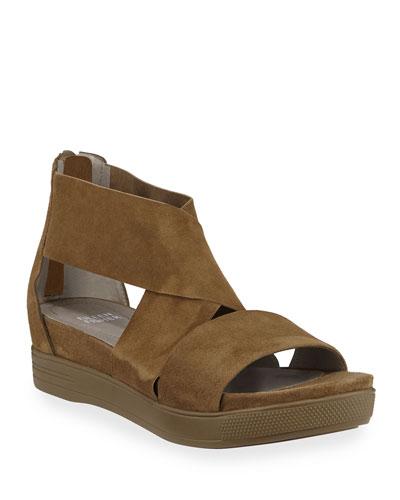 Sport Suede Platform Sandals
