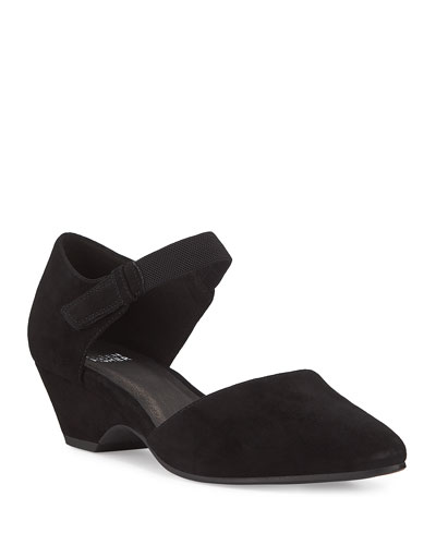 Gal Tabbed Suede Pumps