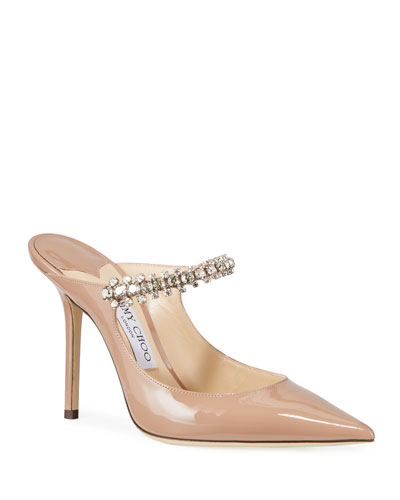 Bing Patent Crystal-Strap Pumps