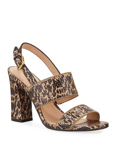 Rylie Snake-Print Sandals