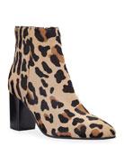 Aquatalia Florita Leopard-Print Booties