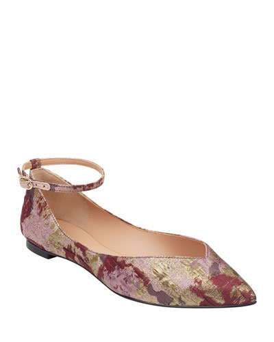Suzie Jacquard Ballet Flats