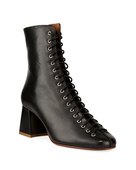 BY FAR Becca Smooth Laced Booties