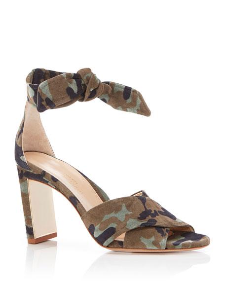 Marion Parke Leah Leather Ankle-Tie Sandals