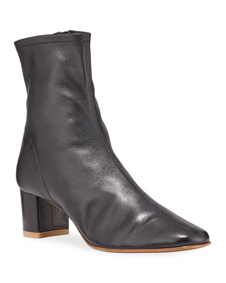 BY FAR Sofia Leather Ankle Booties