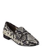 Marc Fisher LTD Change Snake-Print Loafers