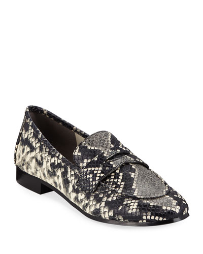 Change Snake-Print Loafers