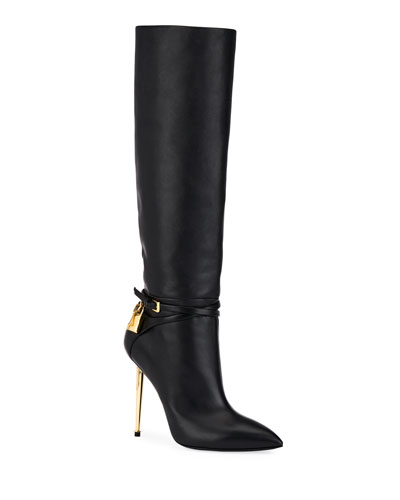 ff5c3e07a Quick Look. TOM FORD · Leather Knee Boots with Padlock