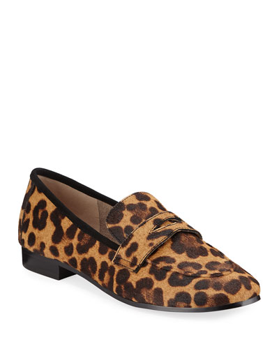 Changly Leopard Loafers