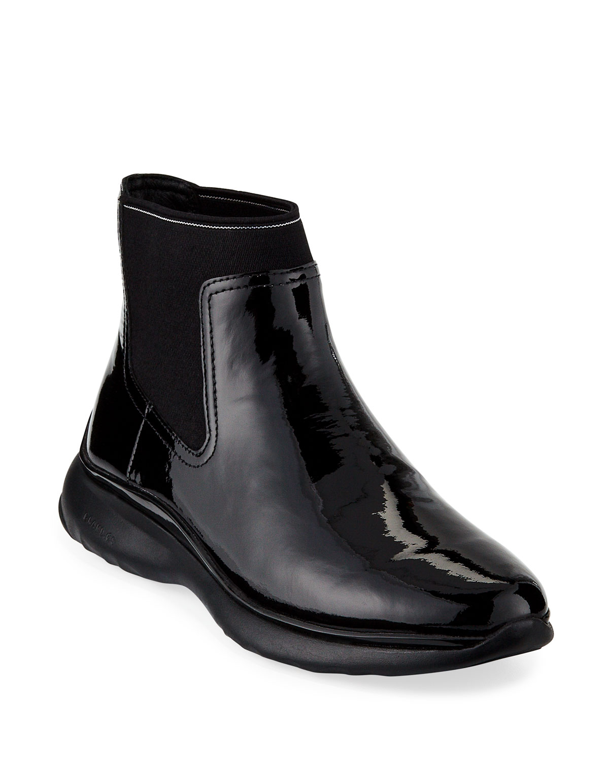 3 Zerogrand Patent Leather Chelsea Boots